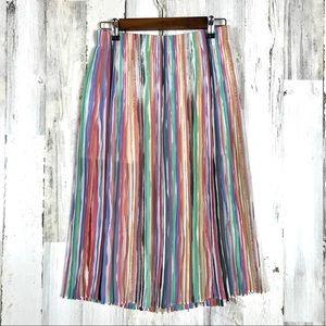 Zara | Striped Pastel Maxi Skirt Small